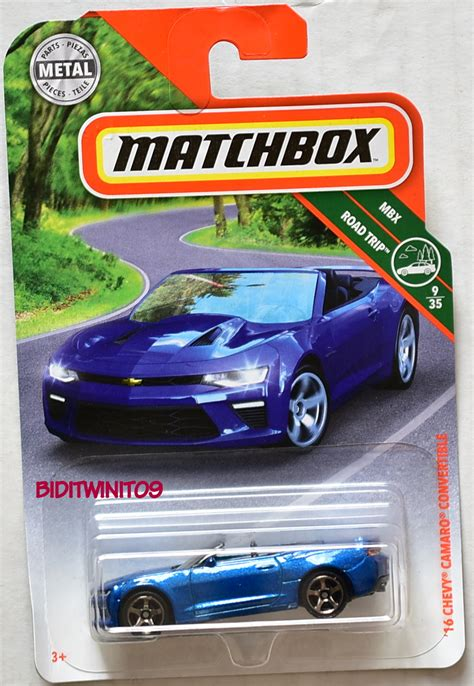 matchbox chevy camaro matchbox 2018 mbx road trip 16 chevy camaro convertible