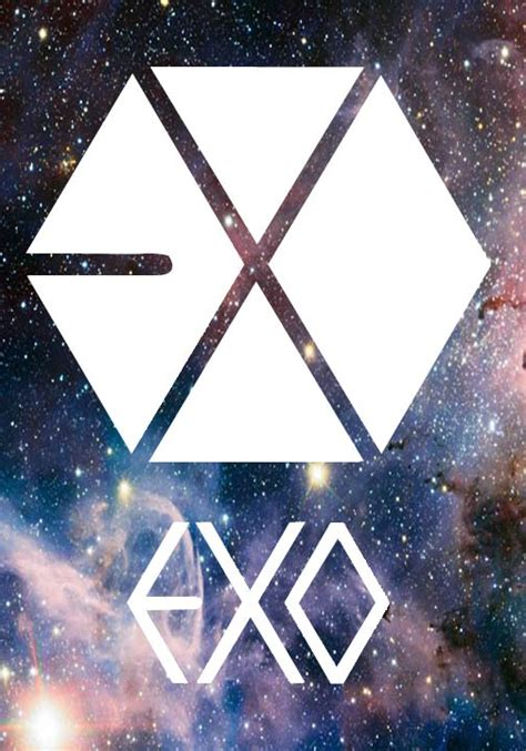 exo wallpaper galaxy exo logo by saramisaki on deviantart