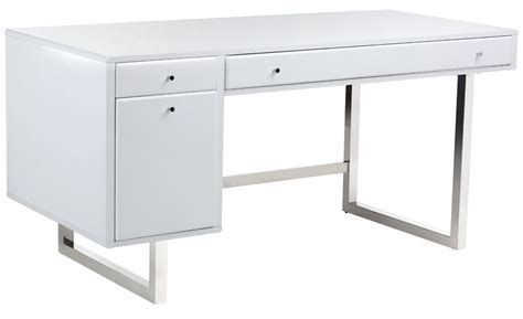 camden high gloss white desk 100588 sunpan modern home