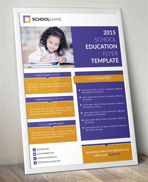 education psd templates free standing education flyer template psd titanui