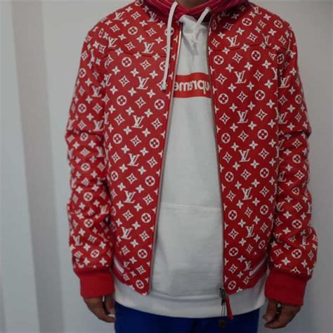 Supreme Cabinets Lv Supreme Louis Vuitton Leather Jacket Men S Fashion