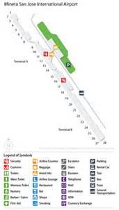 San Jose Airport Map by Cheap Airport Car Rental Deals At San Jose Intl Usa Sjc