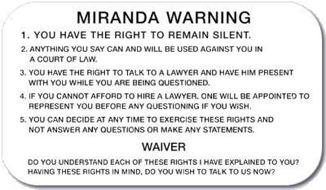 ucmj printable version must police read miranda rights at a california dui arrest