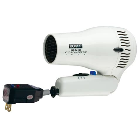 Conair Hooded Hair Dryer 1875 conair 174 169wiw 1875 watt ionic cord keeper dryer hair dryer w folding handle white 4 per