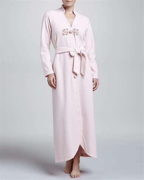 la perla robe la perla gitana fleece robe rosa in pink rosa lyst