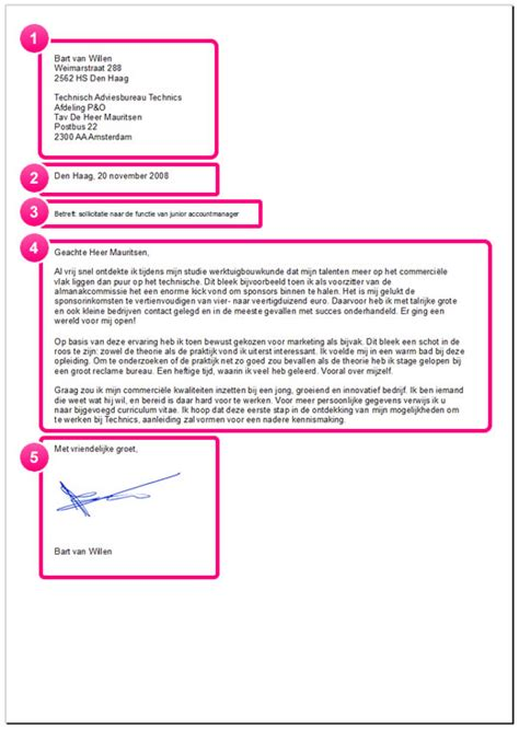 Officiele Briefformat Sollicitatiebrief 5 Tips Voor Een Schitterende Layout