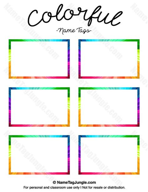 preschool name tag templates printable name tag templates vastuuonminun
