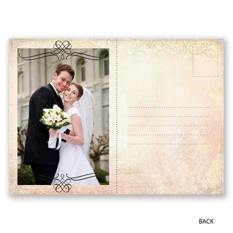 Wedding Announcements Postcards by Antique Finish Wedding Announcement Postcard Invitations