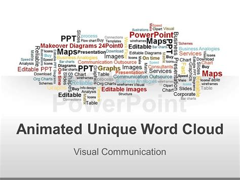 Word Cloud Powerpoint Graphics Vector Illustrations Word Presentation Templates