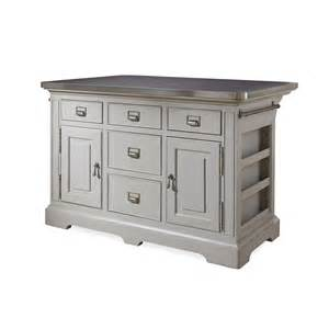 kitchen island stainless top paula deen home dogwood kitchen island with stainless