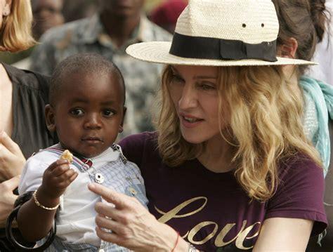 Madonna And Adopted David by Madonna Ritchie Splits Shocks David Banda S Abc