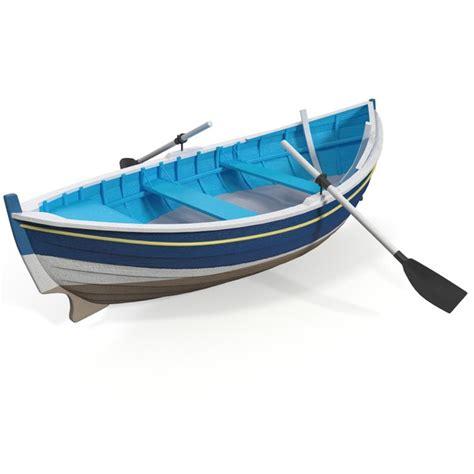 cartoon boat 3d model row boat 3d model free download clipart best