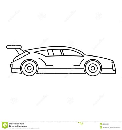 Outline Style Auto racing car icon outline style vector cartoondealer 82865095