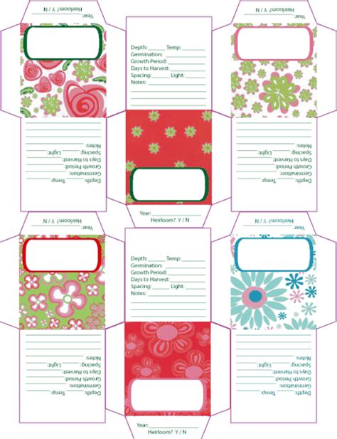 6 best images of free printable seed packets printable