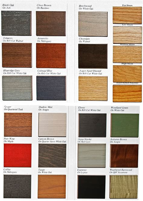 Finish Colors   Wood Veneer and Sheen Options Craft Maid