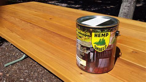 eco friendly wood sealer hemp shield wood finish