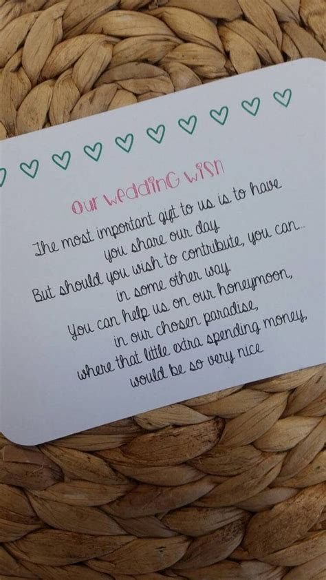 poems about gifts best 25 wedding gift poem ideas on honeymoon