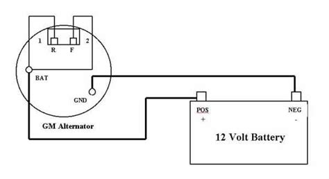 simple alternator wiring diagram 32 wiring diagram