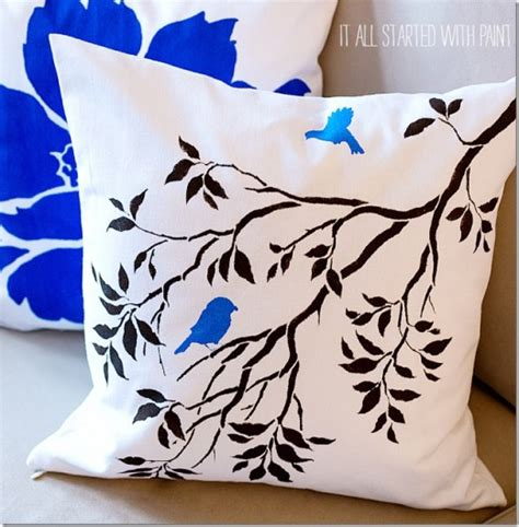 Nature Pillow by Stencil A Nature Inspired Accent Pillow 171 Stencil Stories