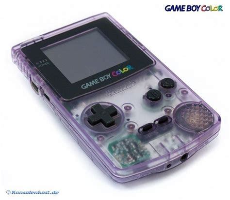 gameboy color gameboy color console clear atomic purple mint