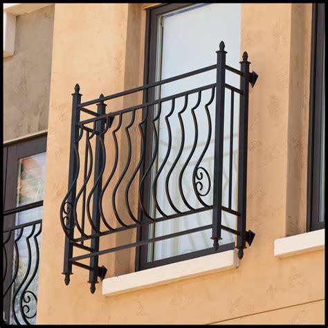 palacio iron faux balcony w 8in offset