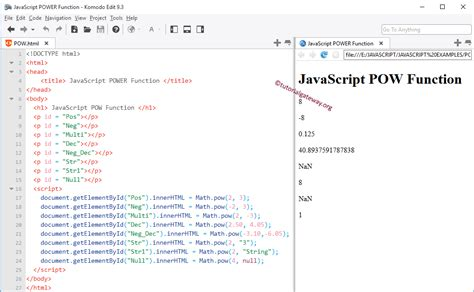 javascript null pattern javascript pow function