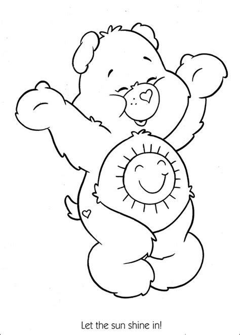 share bear coloring page care bears coloring pages share bear coloringstar
