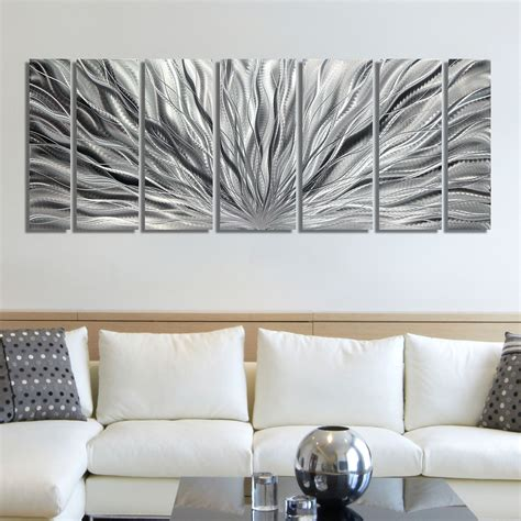 metal home decor silver modern abstract metal wall sculpture home
