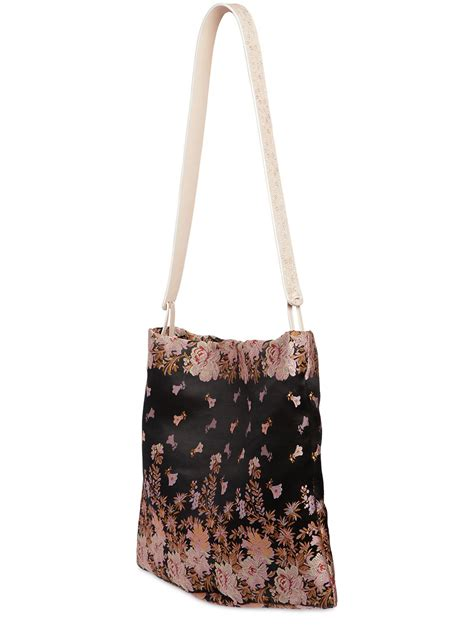 Jacquard Shoulder Bag by Lyst Etro Floral Silk Blend Jacquard Shoulder Bag In Pink