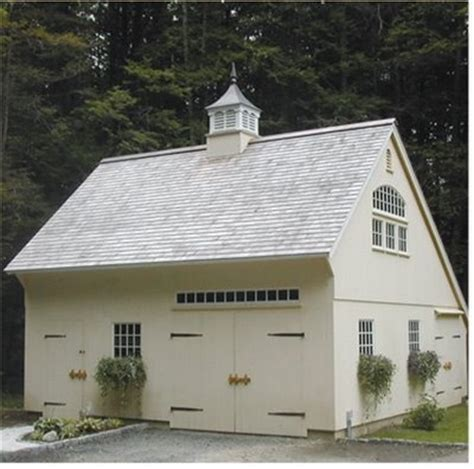 saltbox roof  quaint garage cupola strap hinges