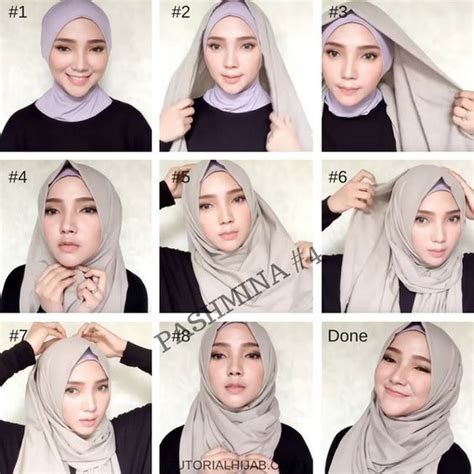 tutorial hijab turban pashmina simple kumpulan tutorial hijab simple sehari hari paling menarik