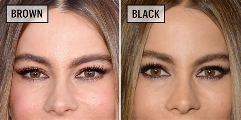 Black Brown brown eyeliner vs black eyeliner asian www pixshark