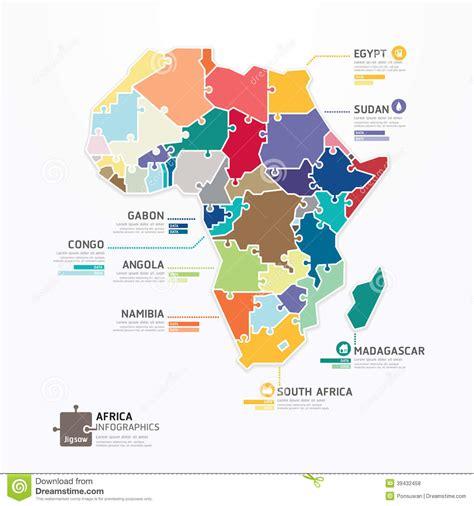 africa map jigsaw africa infographic map template jigsaw concept banner