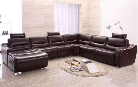Large Modern Sofas Large Modern U Shape Reclining Sectional Sofa