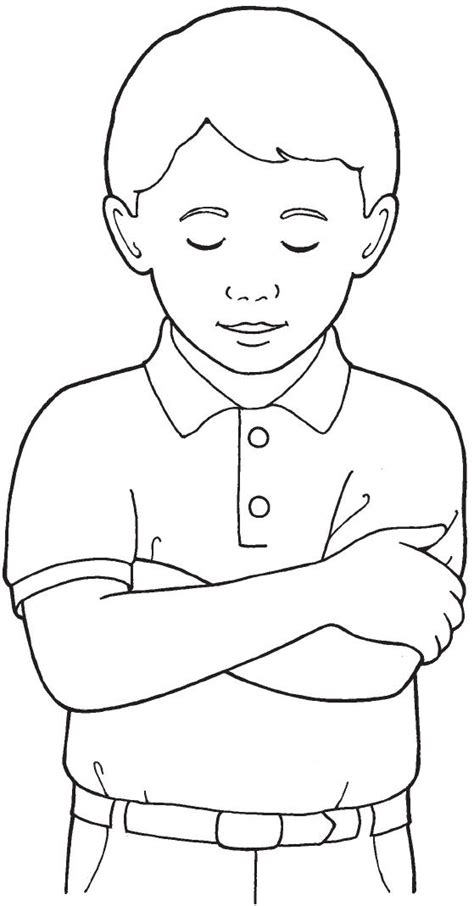lds coloring pages praying lds child praying clipart 36