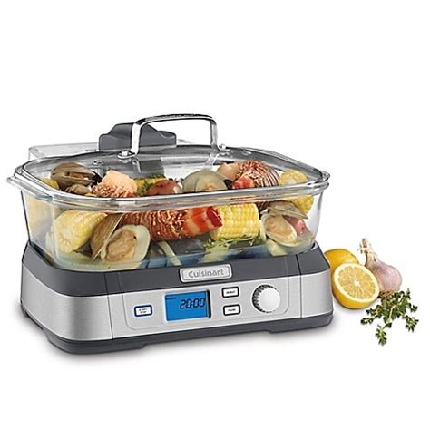 food steamer bed bath and beyond cuisinart 174 cookfresh digital glass steamer in stainless steel bed bath beyond