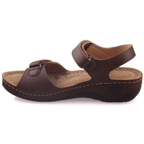 comfortable walking sandals unze womens nuty comfortable walking sandals uk size 3 8 brown