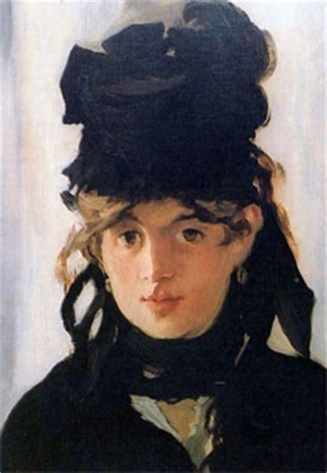 la culla berthe morisot berthe morisot con cappello nero e mazzolino di violette