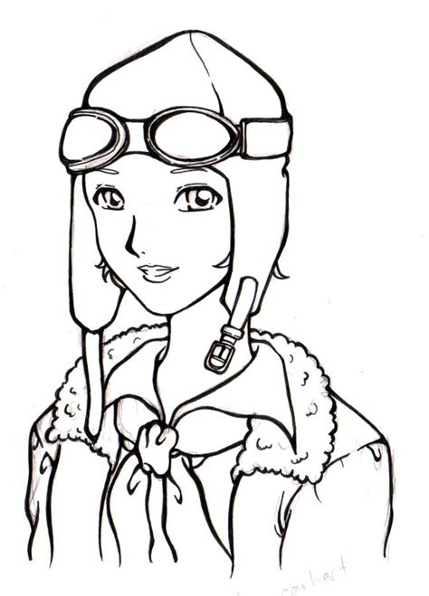 amelia earhart cartoon drawing cartoon simplepict com