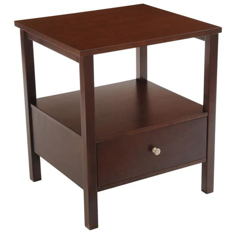 Accent Table With Drawer Wood End Table With Drawer 236459 Living Room At Sportsman S Guide