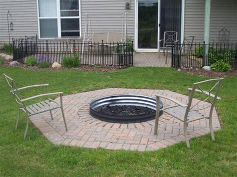 firepit liner square pit liner pit design ideas