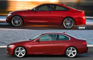 bmw 4 series coupe vs e92 3 series coupe photo comparison
