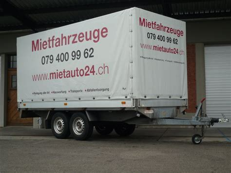 Anh Nger Mieten Uster by Humbauer Sachentransporter 0961 Mietauto24 Ch