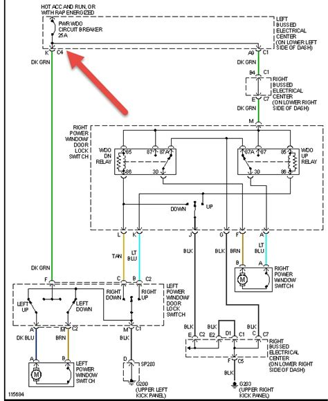 power mirror switch wiring diagram for 97 gmc suburban