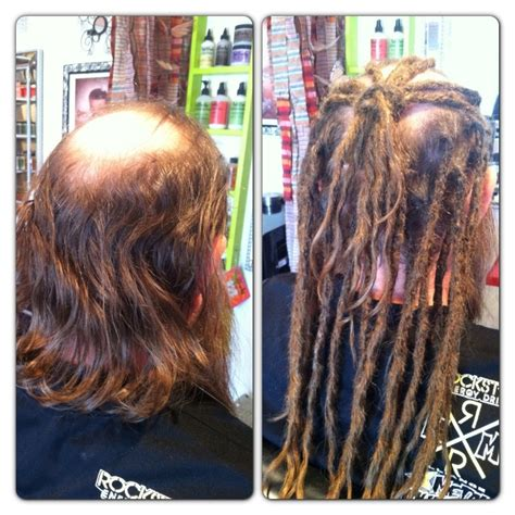 Pre Dreaded Hair Extensions | before after human hair dreadlock extensions dollylocks