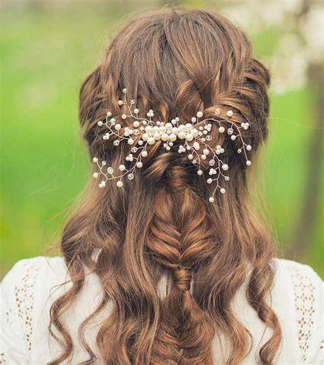 simple bridal hairstyles  curly hair