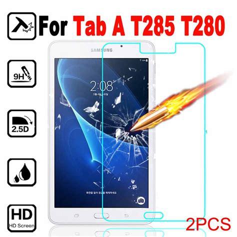 Tempered Glass Samsung Tab A 2016 7inci T285 2pcs t285 t280 tempered glass 2 5d cover for samsung galaxy tab a 2016 lte 7 quot screen protector
