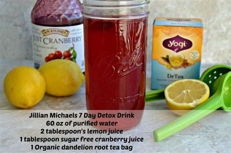 Cranberry Detox Diet Recipe by 25 Best Ideas About Jillian On