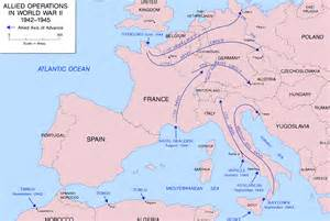 Europe Ww2 Map by Map Of World War Ii In Europe And North Africa