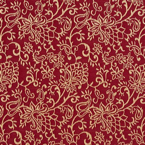 red floral upholstery fabric red contemporary floral jacquard woven upholstery fabric